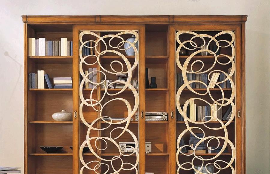 Шкафы для книг на заказ с раздвижными секциями