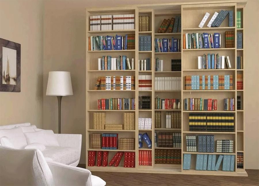 Книжные шкафы библиотеки могут иметь